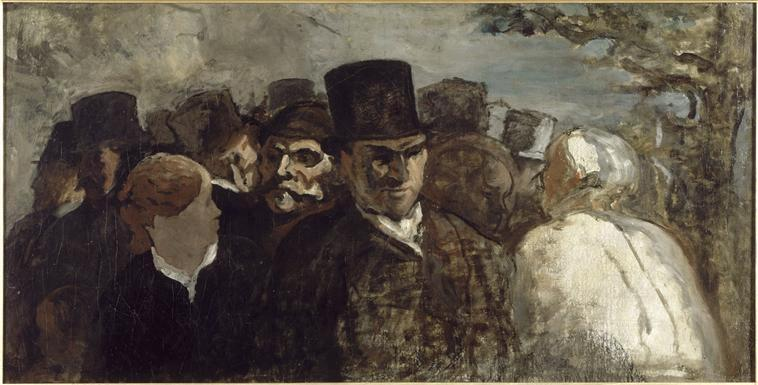 Passers By - Honore Daumier
