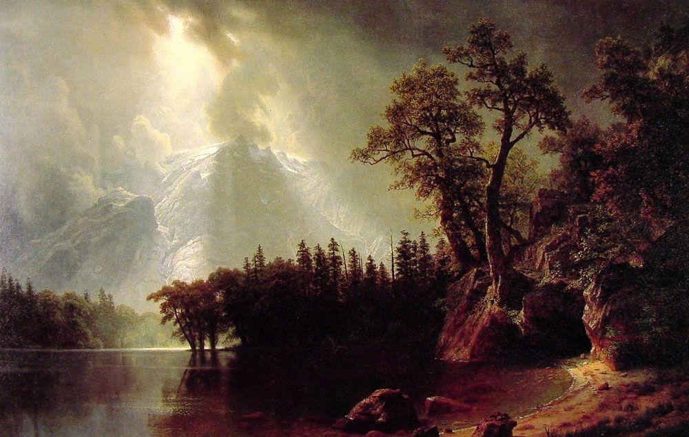 Passing Storm over the Sierra Nevada - Albert Bierstadt