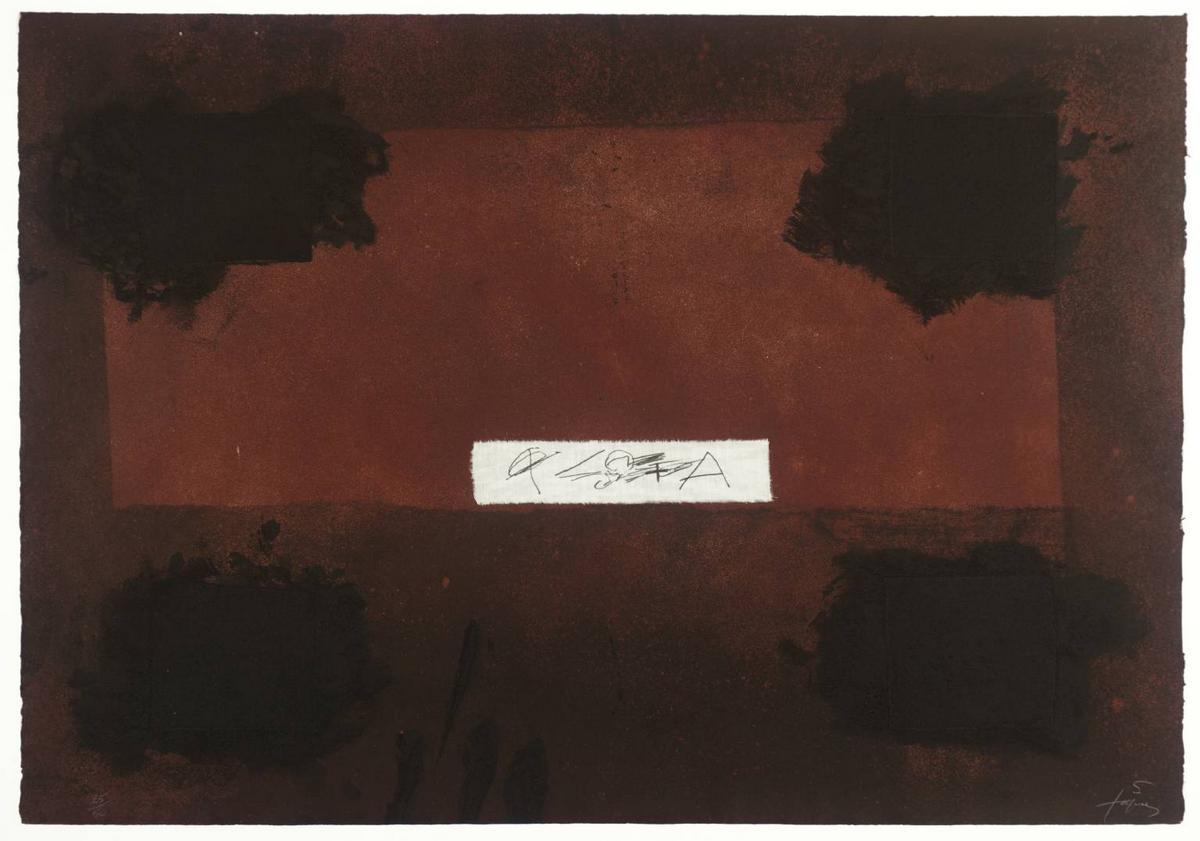 Pasted Cloth  - Antoni Tapies