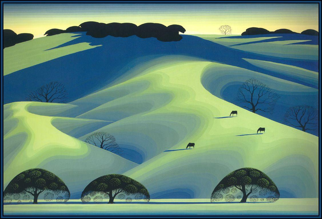 Pastures in Early Spring - Eyvind Earle