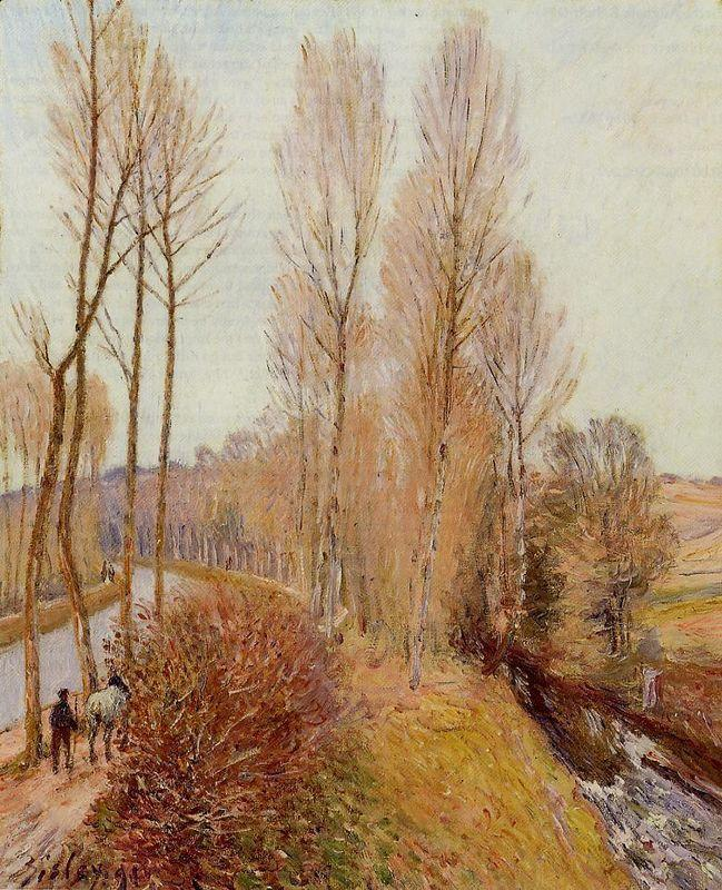 Path along the Loing Canal - Alfred Sisley