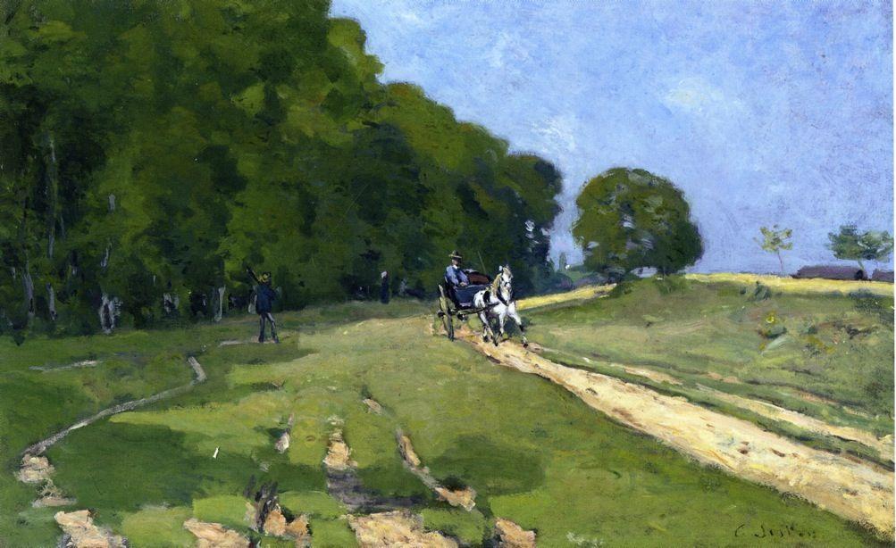 Path near the Parc de Courances - Alfred Sisley