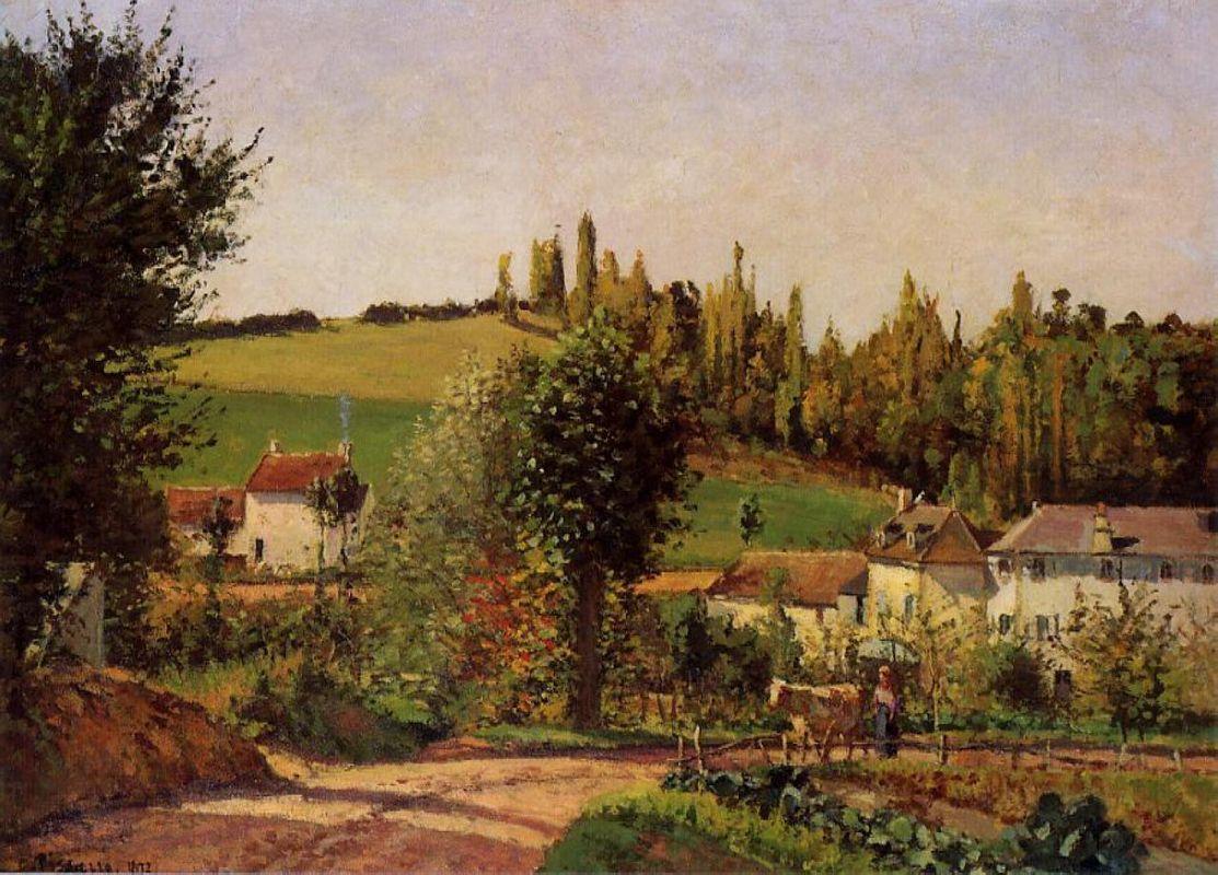 Path of Hermitage at Pontoise - Camille Pissarro