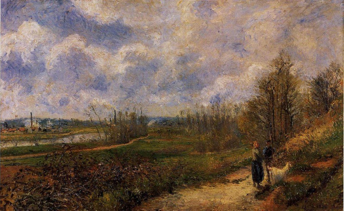 Path to Le Chou, Pontoise - Camille Pissarro