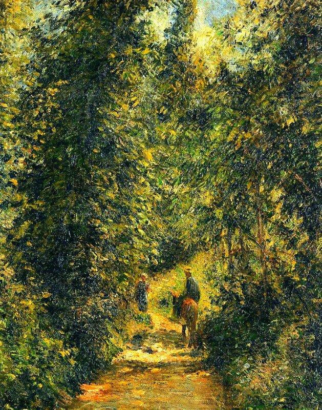 Path under the Trees, Summer - Camille Pissarro