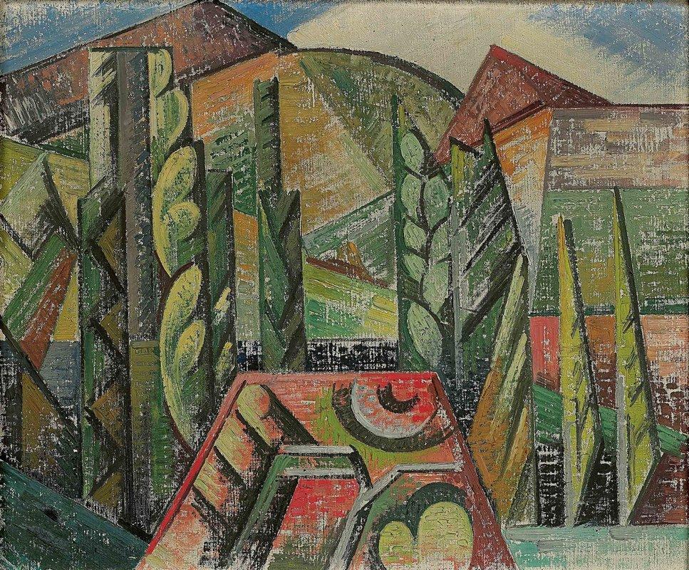 Paysage a Ceret  - Auguste Herbin