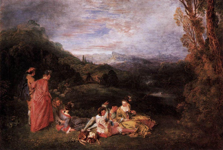 Peaceful Love - Antoine Watteau