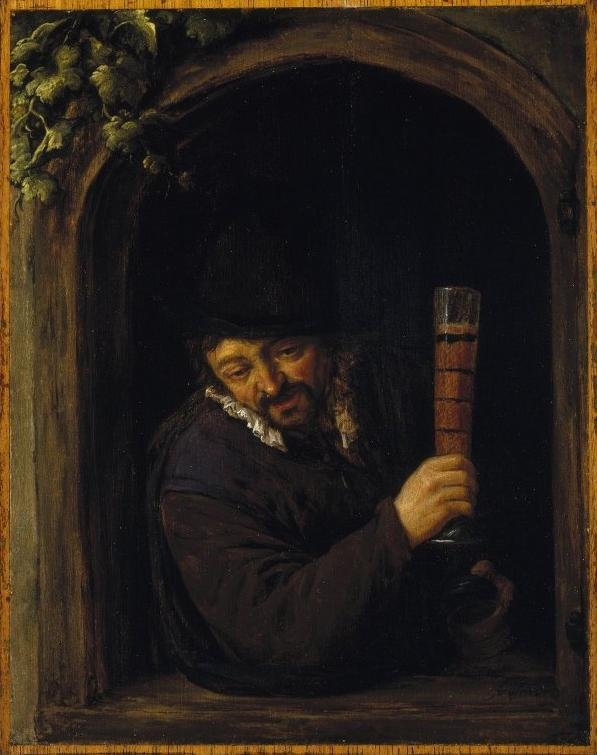 Peasant at a Window - Adriaen van Ostade