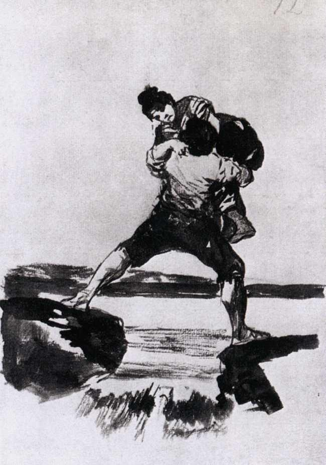 Peasant Carrying a Woman - Francisco Goya