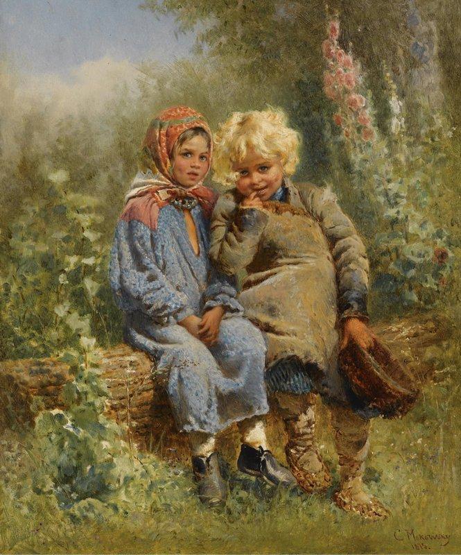 Peasant Children at rest - Konstantin Makovsky