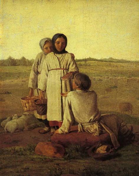 Peasant Children in the Field - Alexey Venetsianov