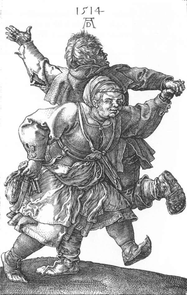 Peasant Couple Dancing - Albrecht Durer