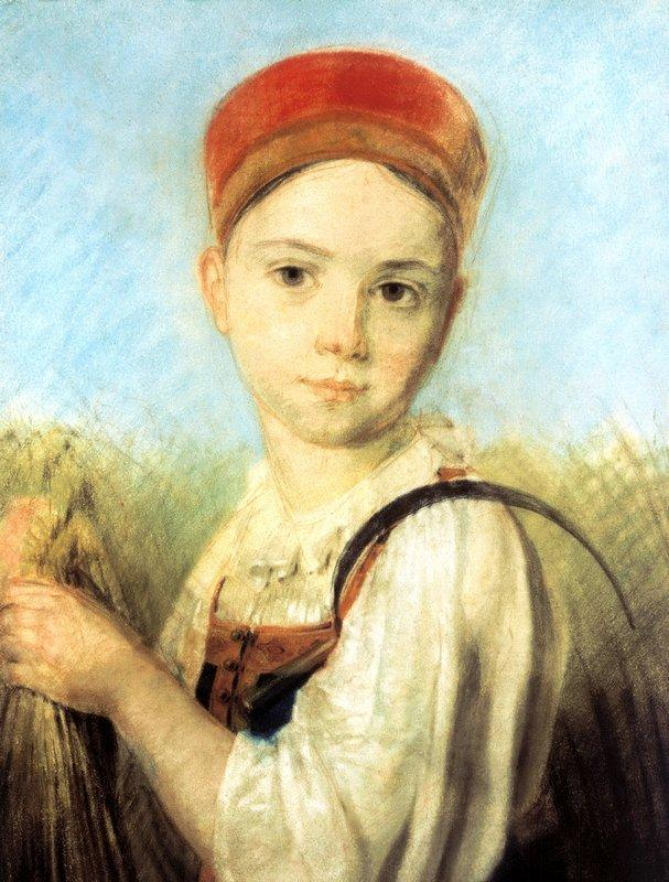 Peasant Girl with a Sickle in the Rye - Alexey Venetsianov