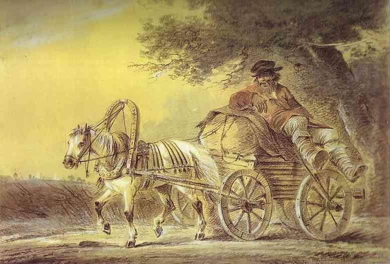 Peasant in a Cart - Alexander Orlowski