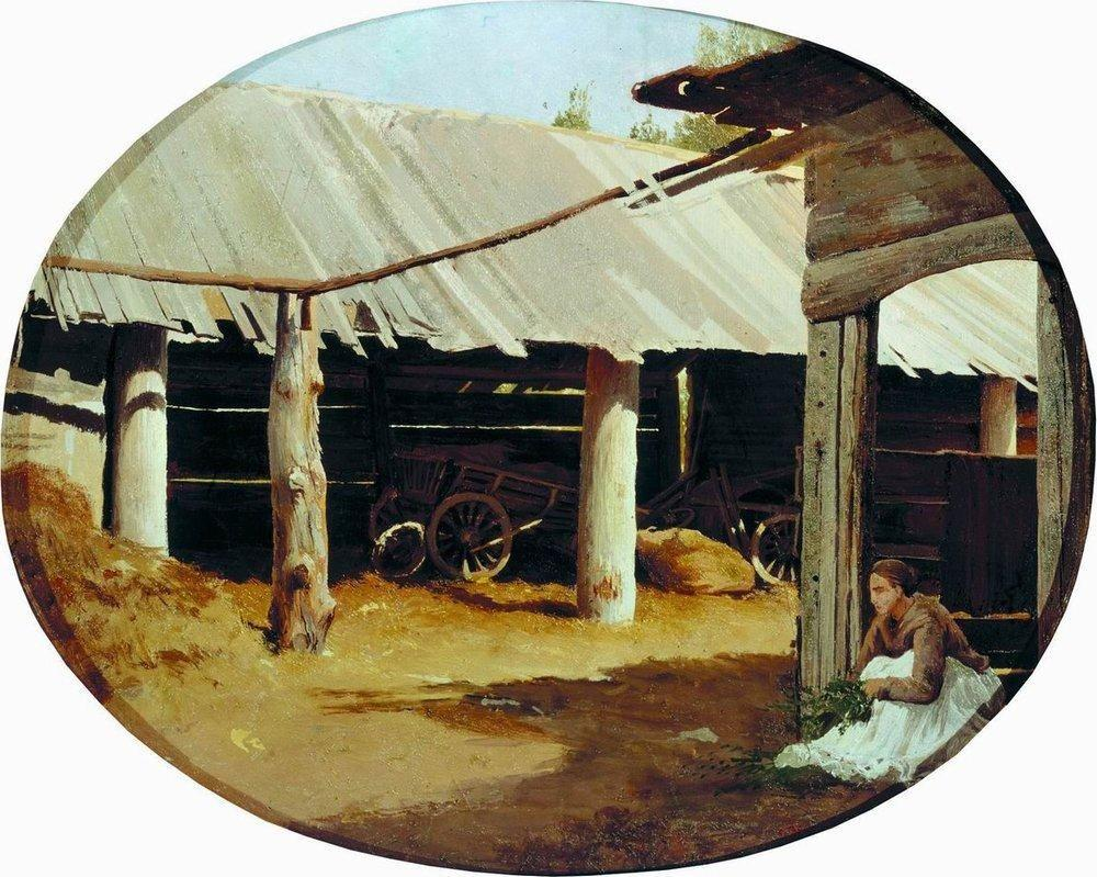 Peasant's Courtyard - Fyodor Vasilyev