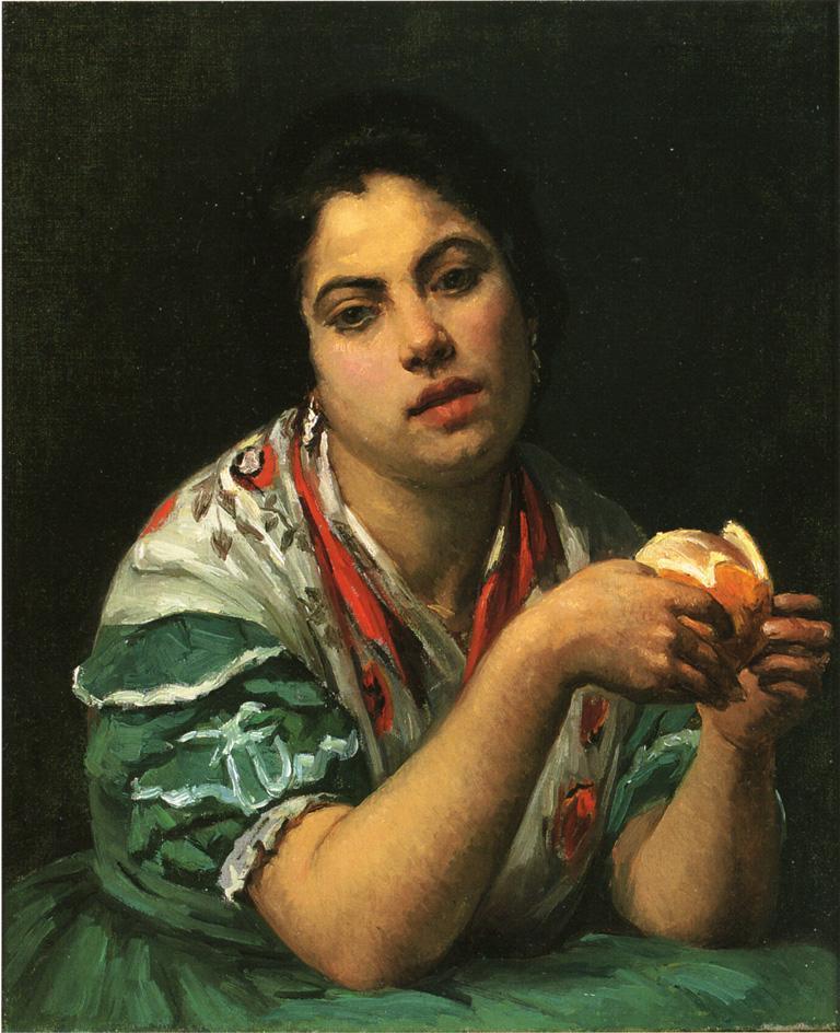 Peasant Woman Peeling an Orange - Mary Cassatt