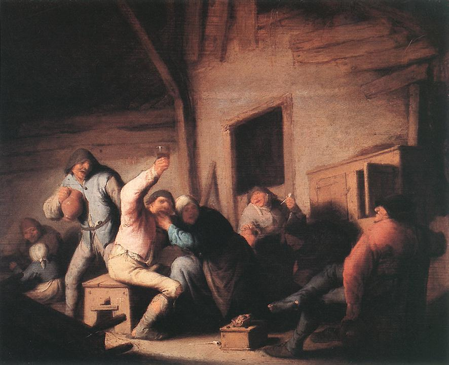Peasants in a Tavern - Adriaen van Ostade