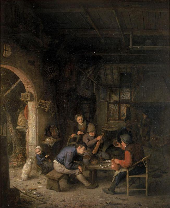 Peasants in an Inn - Adriaen van Ostade