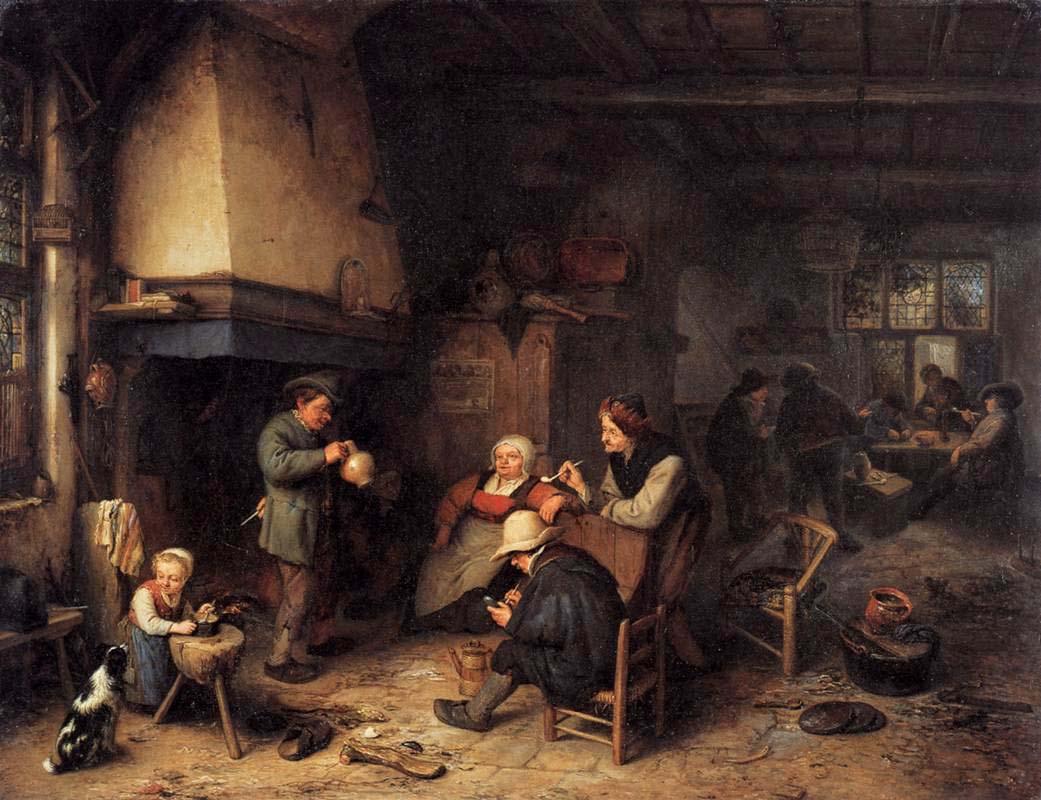 Peasants in an Interior - Adriaen van Ostade