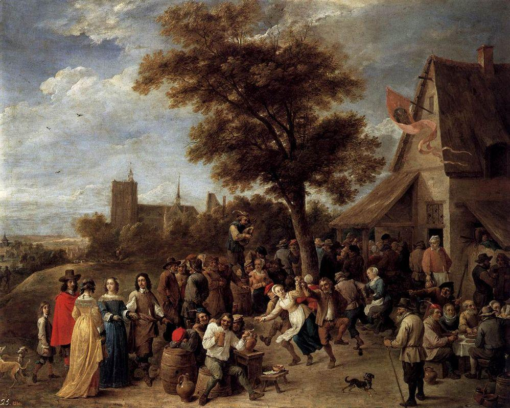 Peasants Merry-Making - David Teniers the Younger