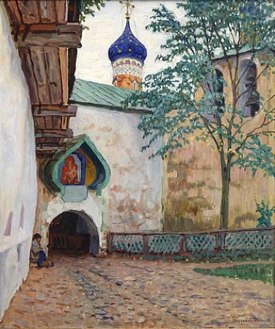 Pechersky Monastery - Nikolay Bogdanov-Belsky