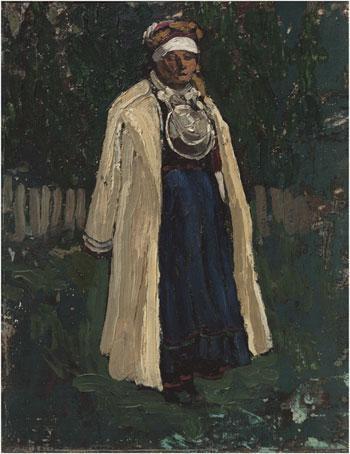 Pechora. A Half-beleiver (A Seto Woman). - Nicholas Roerich