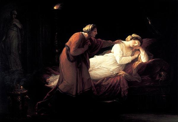 Penelope is woken by Euryclea - Angelica Kauffman