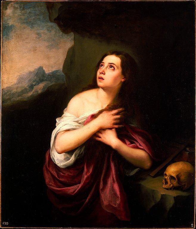 Penitent Magdalene - Bartolome Esteban Murillo