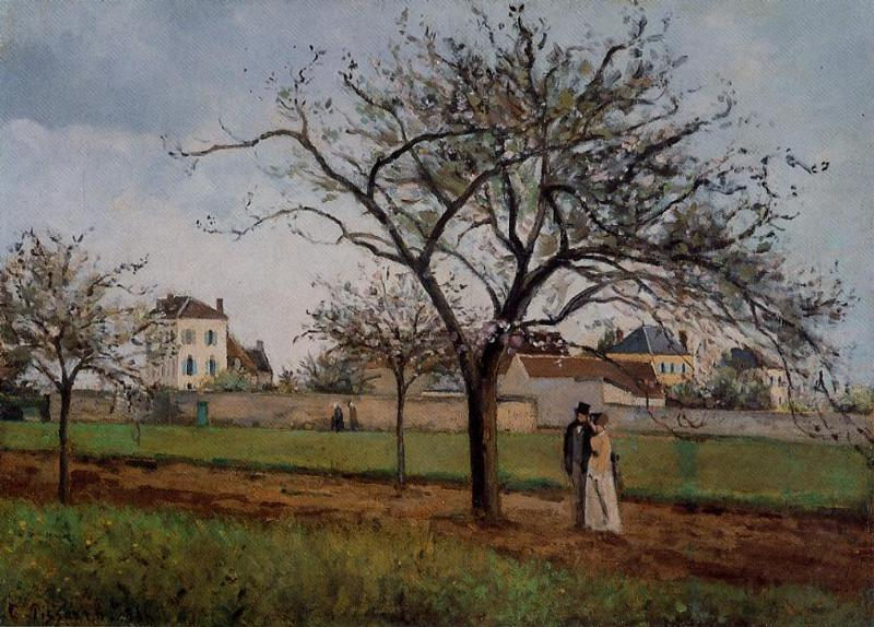 Pere Gallien's House at Pontoise - Camille Pissarro
