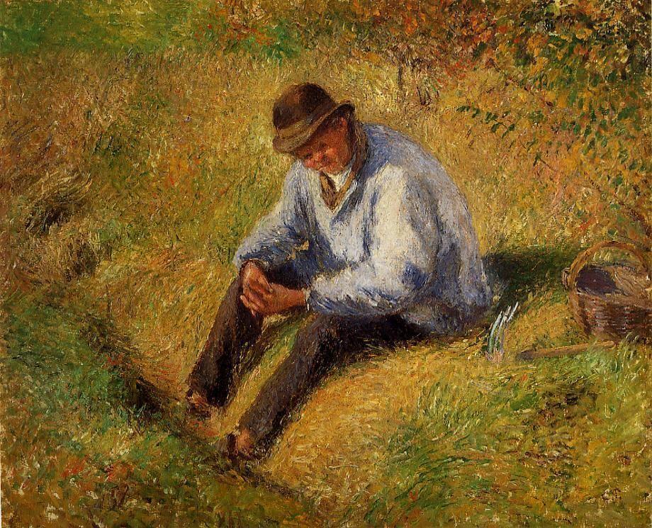 Pere Melon Resting - Camille Pissarro