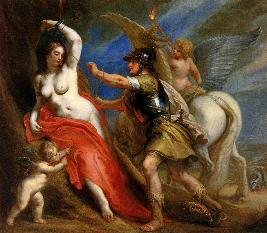 Perseus Frees Andromeda - Theodoor van Thulden