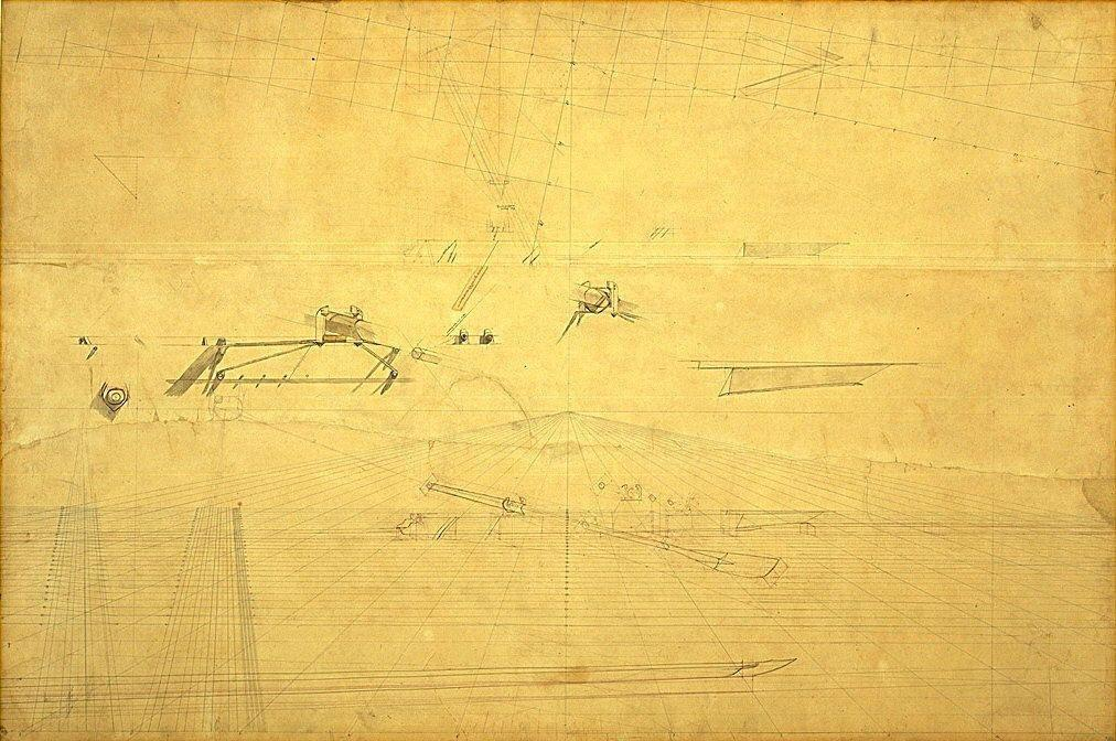 Perspective Drawing for The Biglin Brothers Turning The Stake - Thomas Eakins