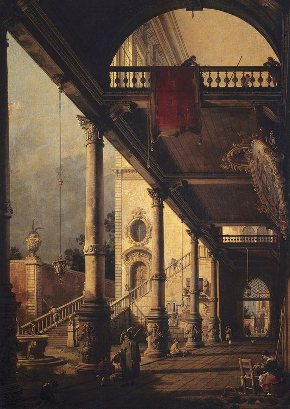 Perspective with a Portico - Canaletto