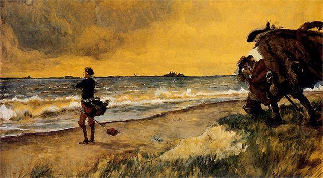 Peter the Great meditating the Idea of building St. Petersburg at the Shore of the Baltic Sea - Alexandre Benois