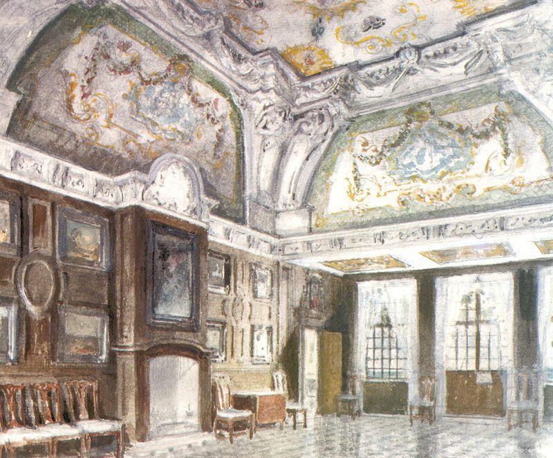 Peterhof Palace. Mon Plaisir. Medium room. - Alexandre Benois