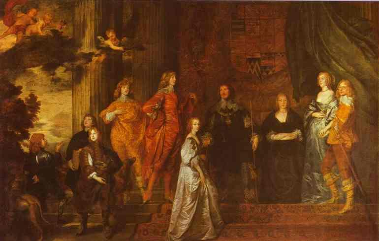 Philip, 4th Earl of Pembroke and His Family - Anthony van Dyck