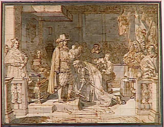 Philip V handing around the Golden Fleece to the Duke of Berwick after the battle of Almanza - Jean Auguste Dominique Ingres