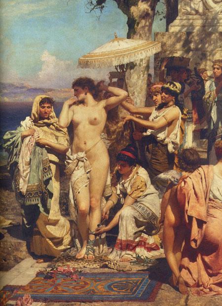 Phryne at the Poseidonia in Eleusis (detail) - Henryk Siemiradzki