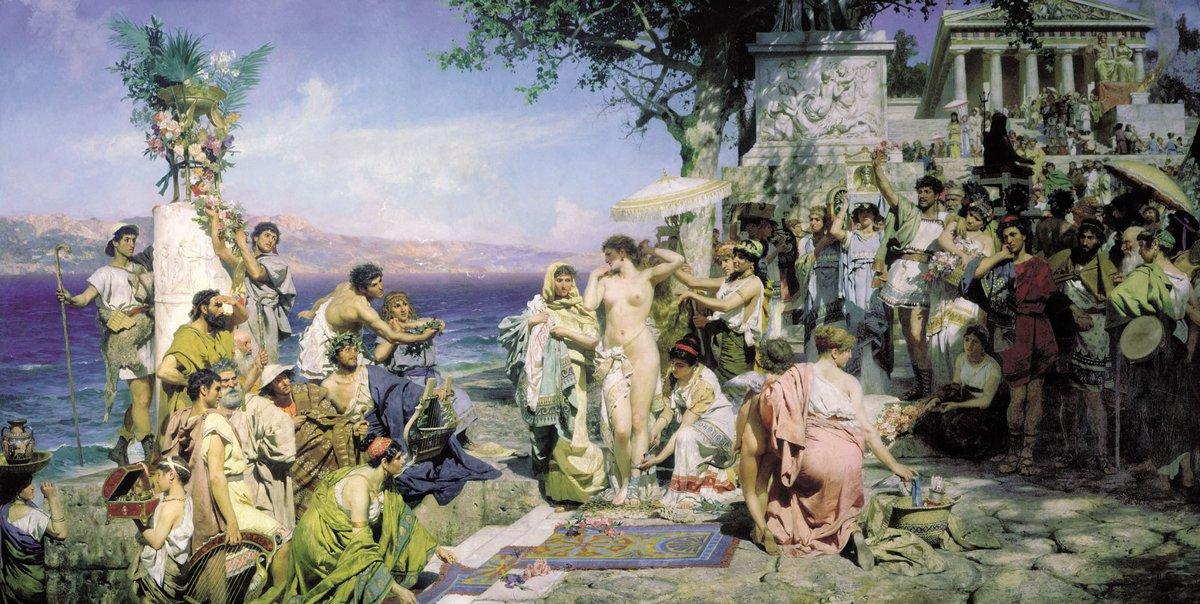 Phryne on the Poseidon's celebration in Eleusis - Henryk Siemiradzki