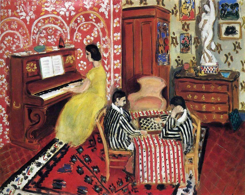 Pianist and Checker Players - Henri Matisse