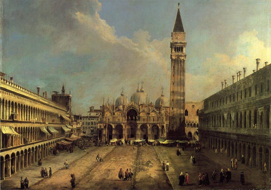 Piazza San Marco Looking East along the Central Line - Canaletto