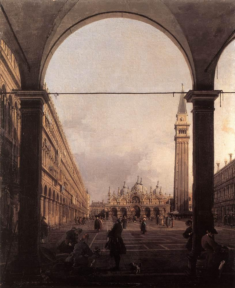 Piazza San Marco: Looking East from the North West Corner - Canaletto