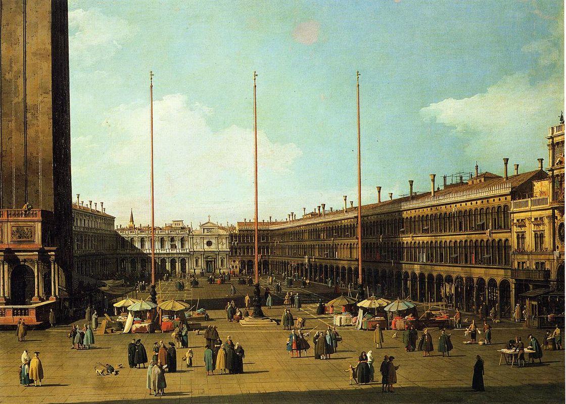 Piazza San Marco, Looking Towards San Geminiano - Canaletto