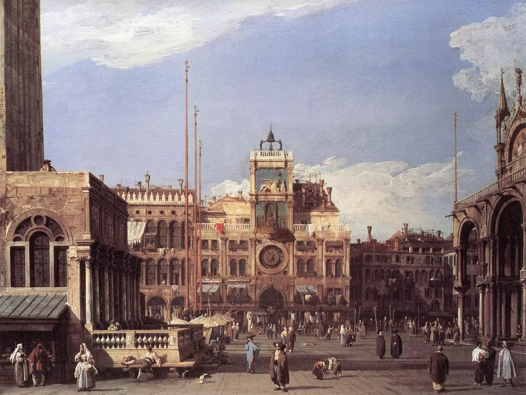 Piazza San Marco, the Clocktower - Canaletto