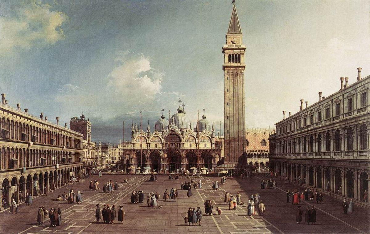 Piazza San Marco with the Basilica - Canaletto