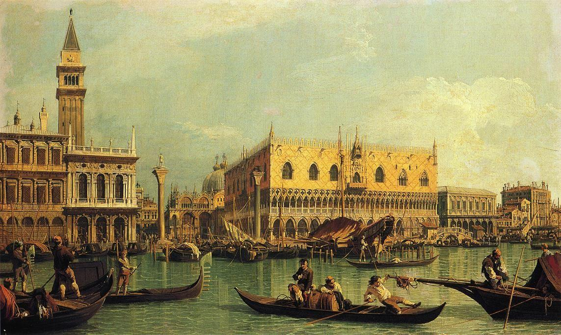 Piazzetand the Doge s Palace from the Bacino di San Marco - Canaletto