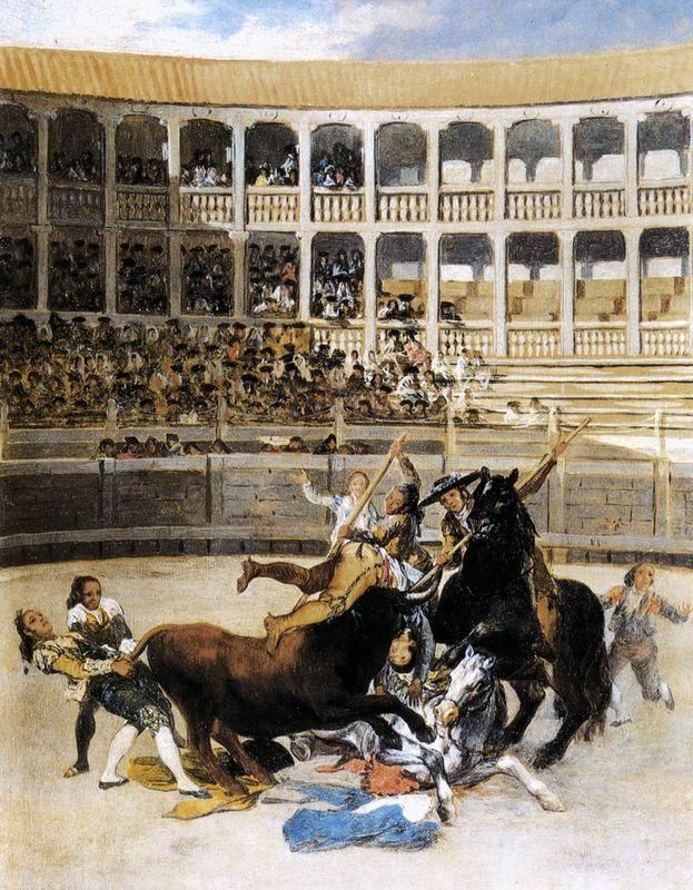 Picador Caught by the Bull - Francisco Goya