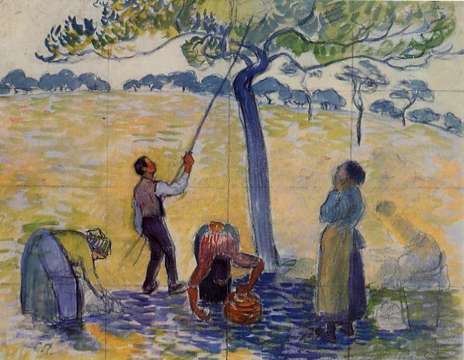 Picking Apples - Camille Pissarro