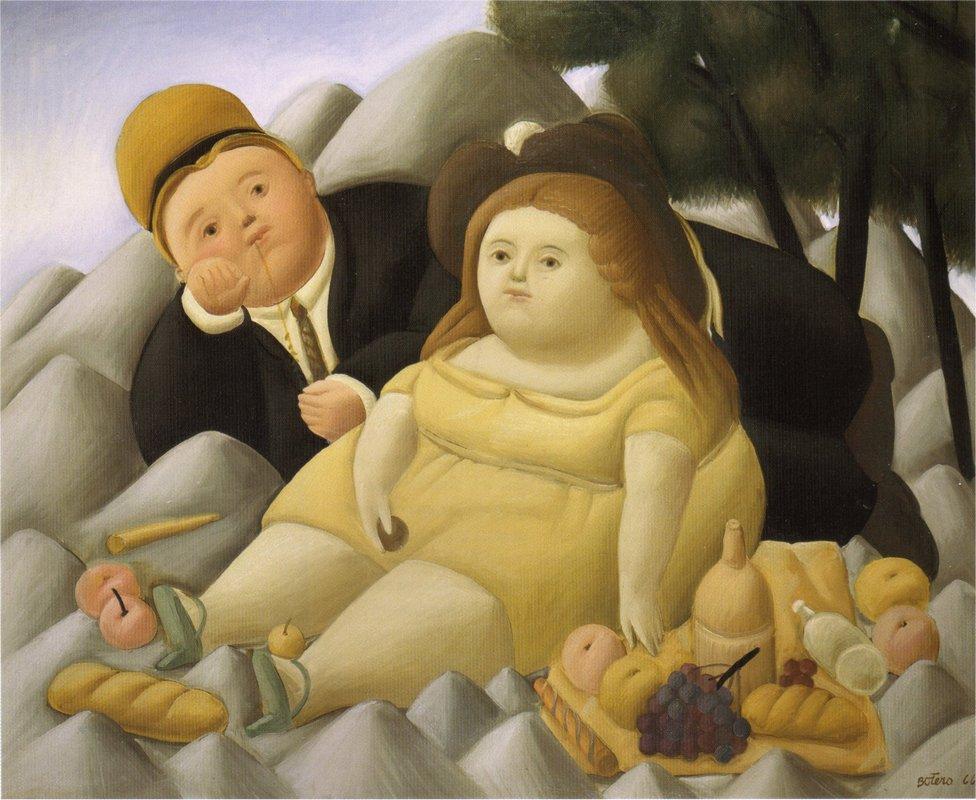Picnic in the Mountains - Fernando Botero