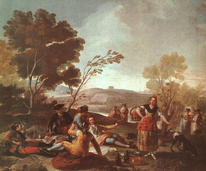 Picnic on the Banks of the Manzanares - Francisco Goya